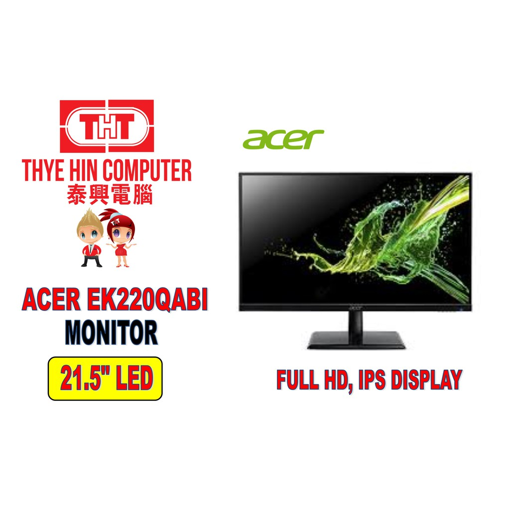 Acer EK220QAbi 21.5 Inch FULL HD IPS Monitor