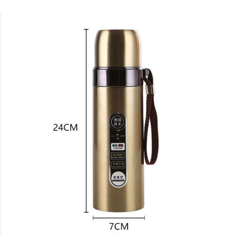 [ READY STOCK ]  Double Layer Bullet Shape Thermo Stainless Steel BPA Free Water Bottle Vacuum Coffee Kitchen Air Minuman