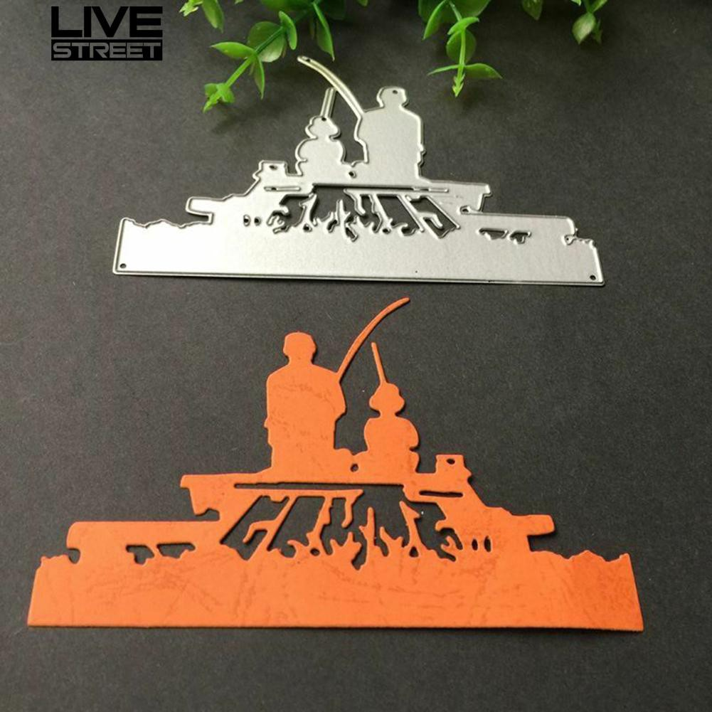Livestreet Fishing Metal Cutting Dies DIY Scrapbooking Paper Cards Album Art Craft Stencil