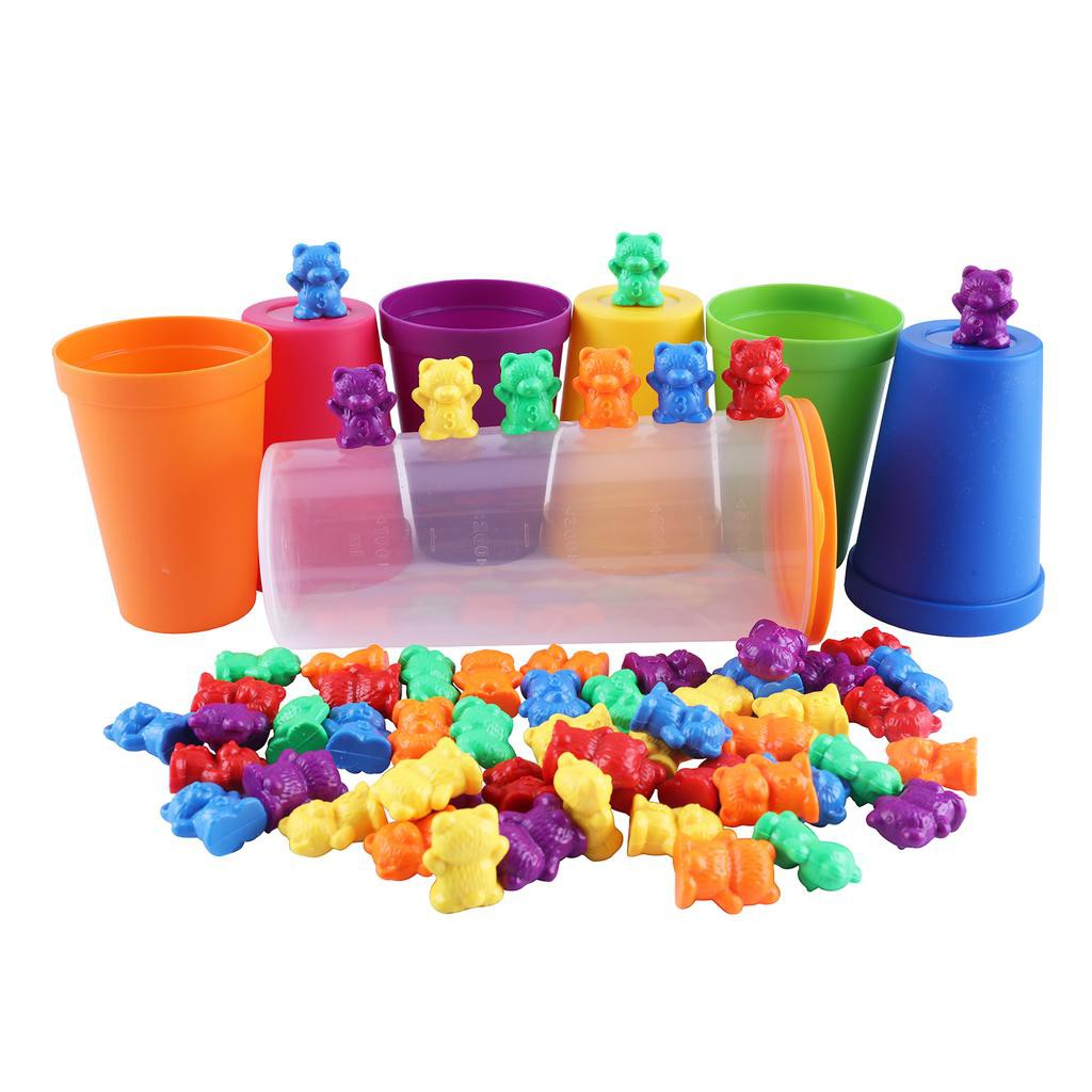 120pcs Learning Resources Counting Sorting Bears Play Activity Set Kids Toy