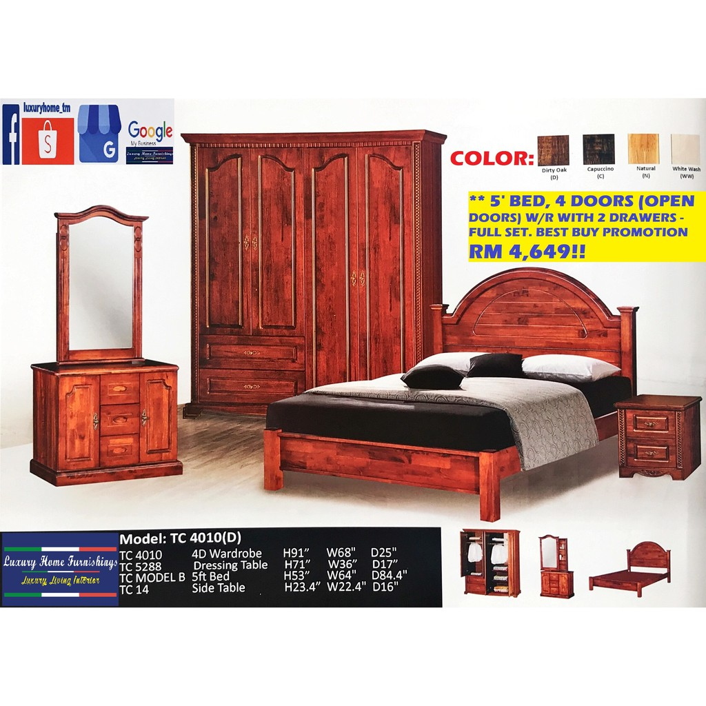 BED ROOM SET COLLECTION A