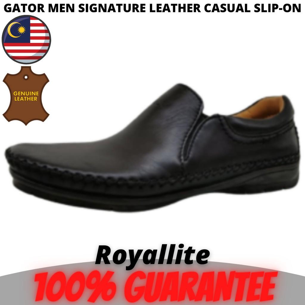 GATOR MEN SIGNATURE LEATHER CASUAL SLIP-ON (3135) Black