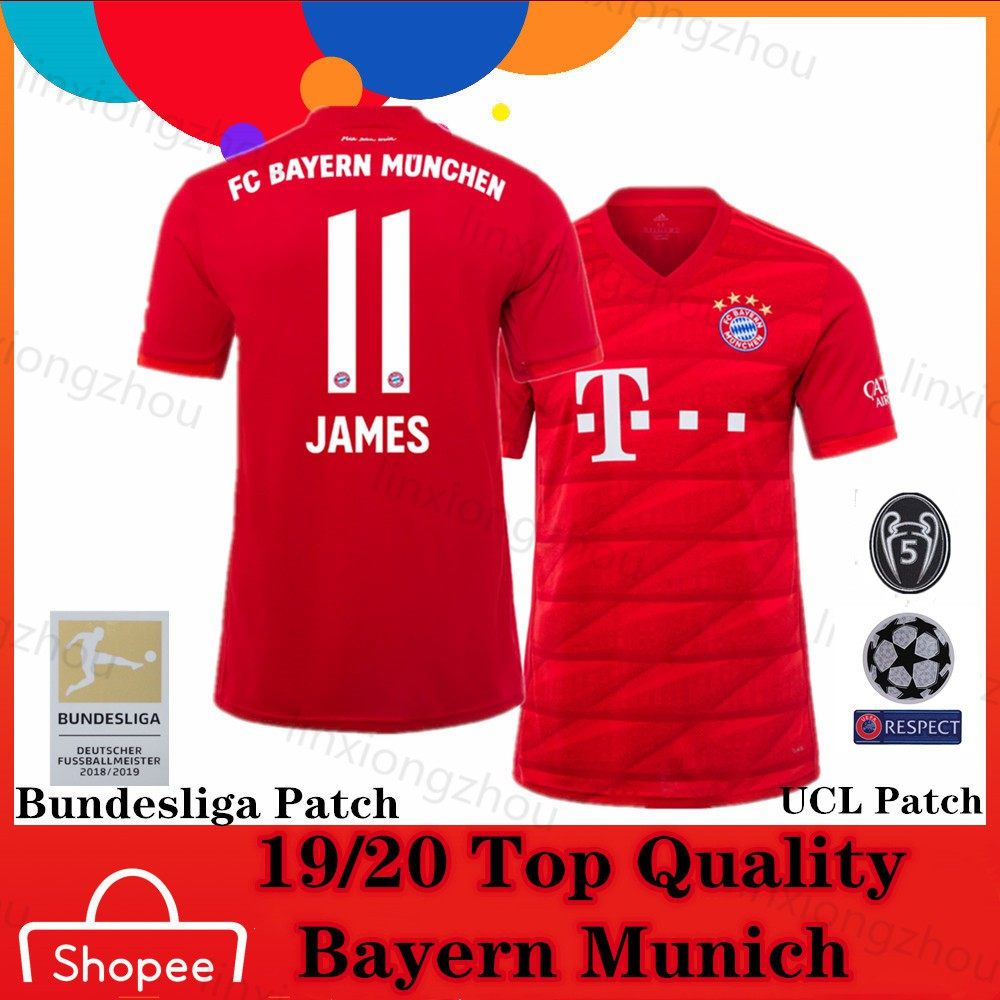 best service add33 7309f Top Quality 19/20 Bayern Munich Home Soccer Jersey Football Jersey