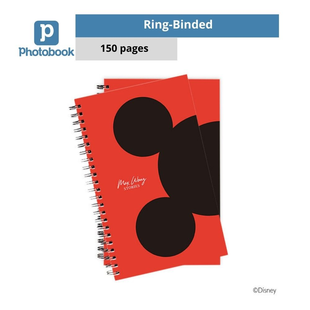 """Photobook Personalized Disney Ring-Binded Notebook (5"""" x 8"""" x 2 Identical Copies)"""