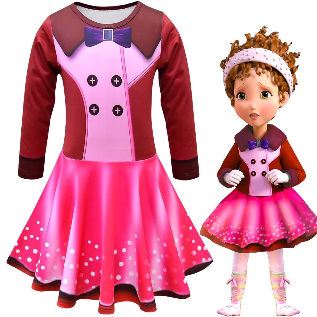 2019 new children/'s skirt fancy nancy cosplay children/'s holiday dress