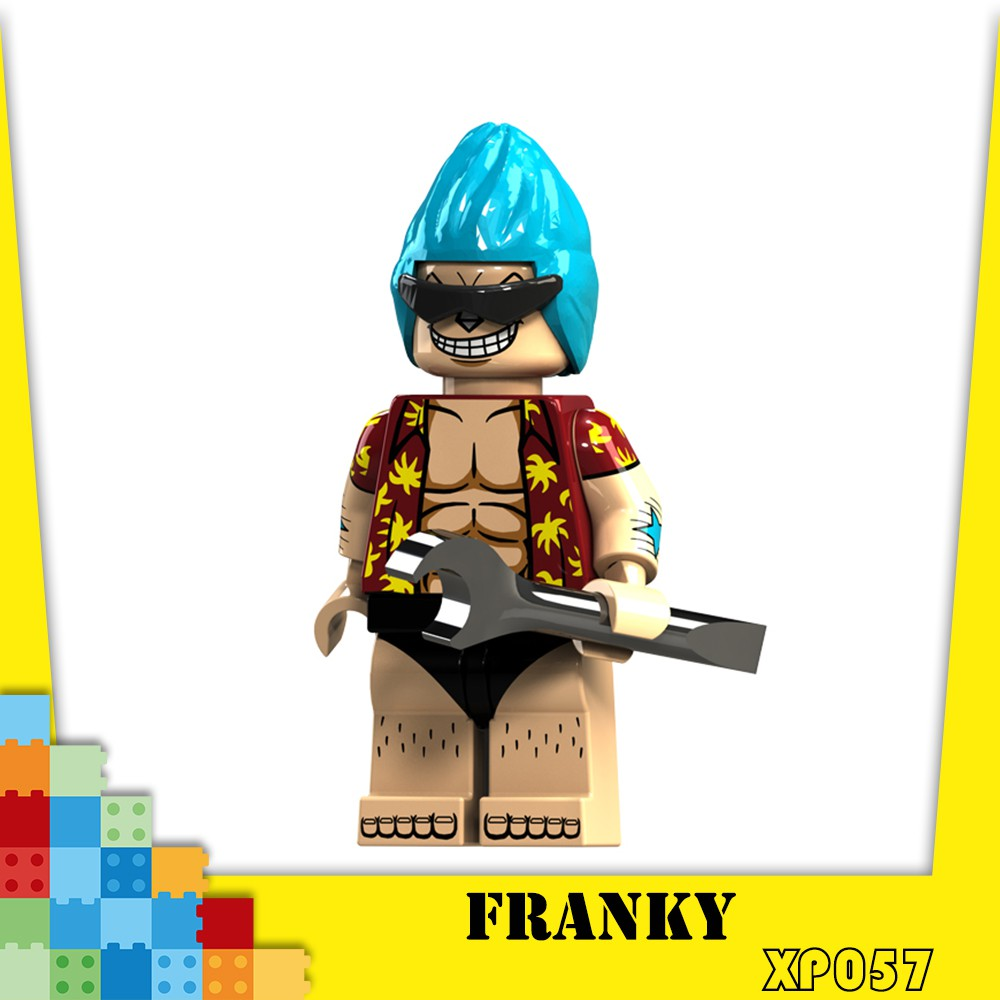 XP057 One Piece Franky Minifigures Lego Compatible Building Blocks