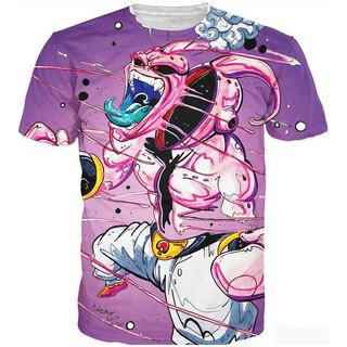 New Women Men T-Shirt Anime Dragon Ball Z Majin Boo 3D Print Casual Short Sleeve