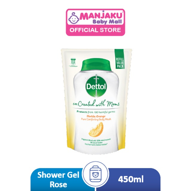 Dettol Co-Created with Mom Shower Gel Refill Citrus - 450g