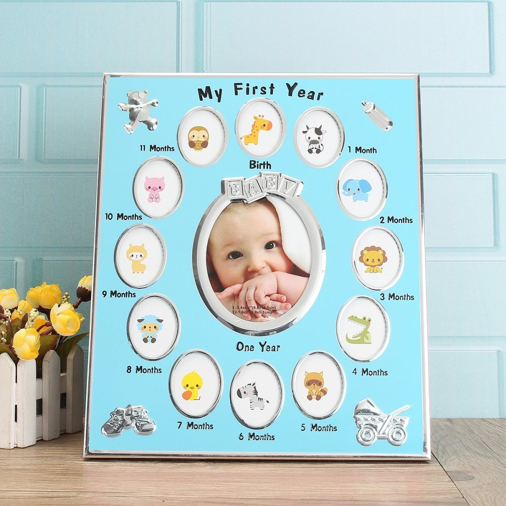 Baby First Year 12 Month Picture Decoration Wall Photo Frame