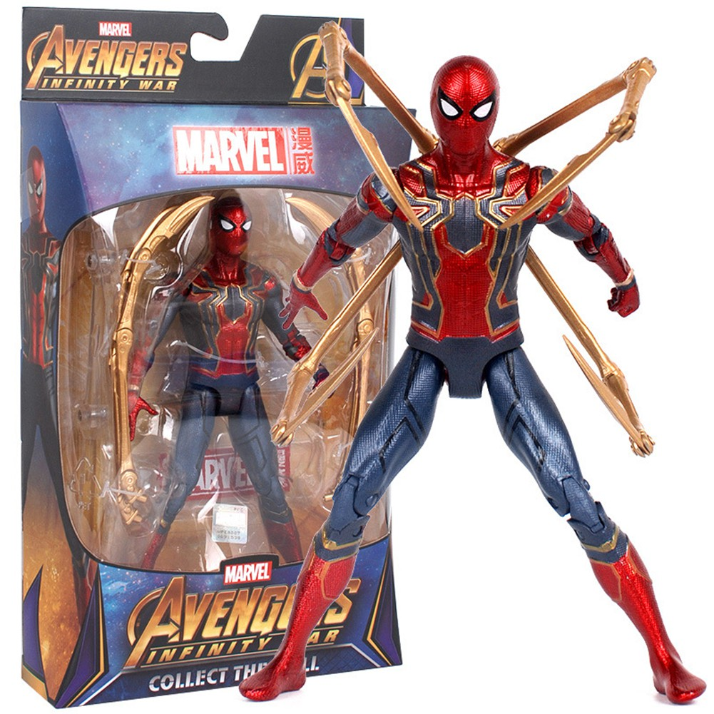 Marvel Spider Man Iron Spiderman Avengers Infinity War 7 inch Action Figure Toy