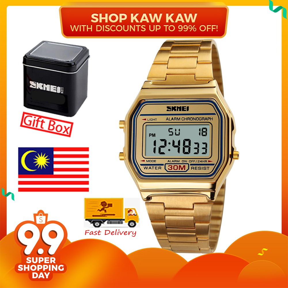 Skmei Men Smart Watch Pedometer Calories Digital Altimeter Compass Jam Tangan Casio 1123 Original Watches 1358 Shopee Malaysia