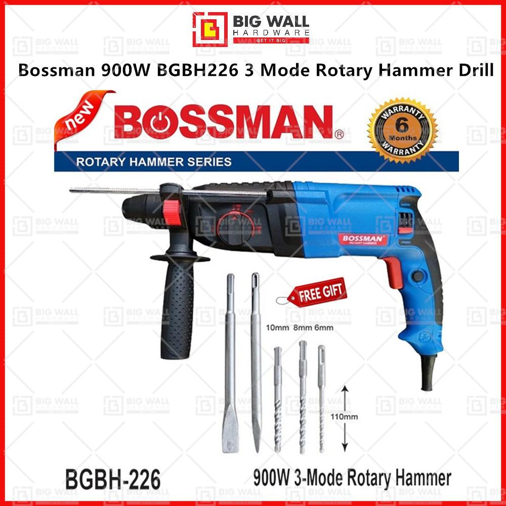 Bossman 900W BGBH226 3 Mode Rotary Hammer Drill Power Tool Big Wall Hardware