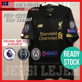 timeless design aab71 07b93 Ready Stock] Liverpool 2019/20 Goalkeeper Black Jersey, Size ...