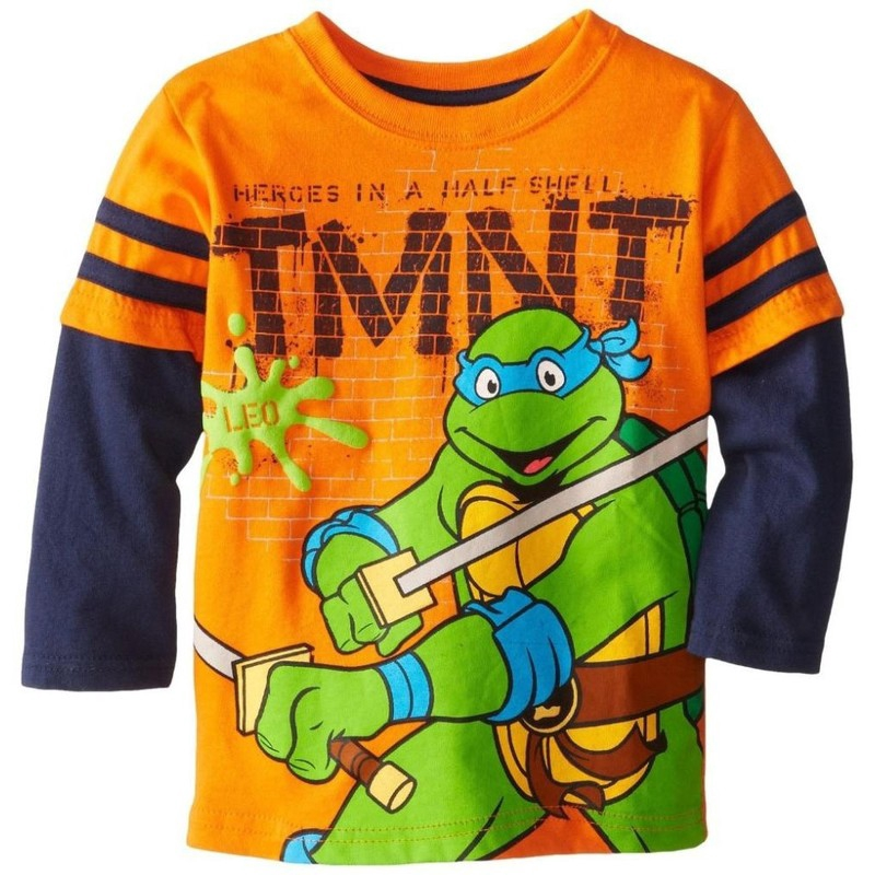 Ninja Turtles Toddler Little Boys Heroes in a Half Shell Long Sleeve Shirt
