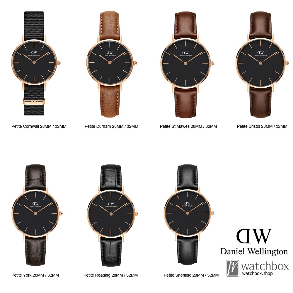 38f8a38b3c67 Original Daniel Wellington DW Classic Petite Gold Black Women Watch 28MM 32MM