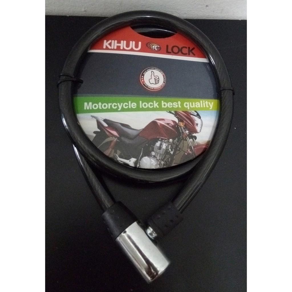Black Helix Stick Steel Motorcycle Kihuu Lock 10 x 1000mm