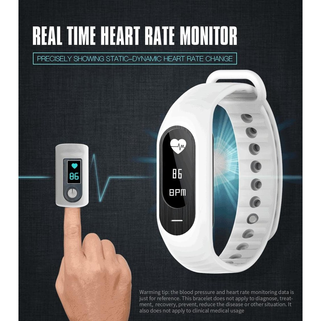 SKMEI Wristband Blood Pressure Heart Rate Smart Bracelet Touch Screen  Digital