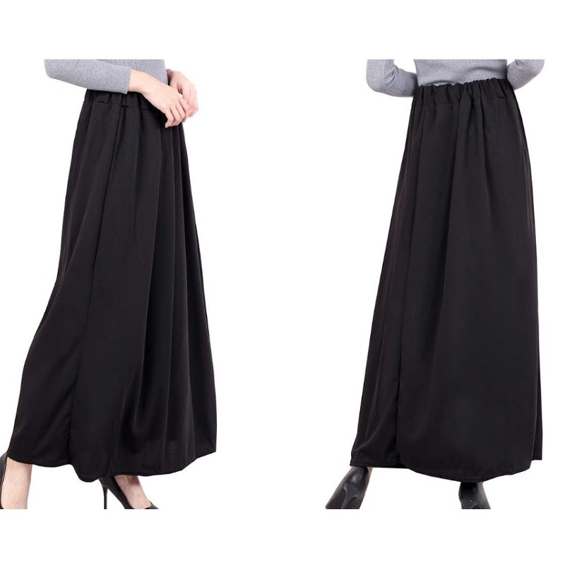 READY STOCK 13950] SKIRT KEMBANG PAYUNG MATERIAL COTTON MUSLIMAH LABUH /A LINE PLEATED PAYUNG MAXI SKIRT