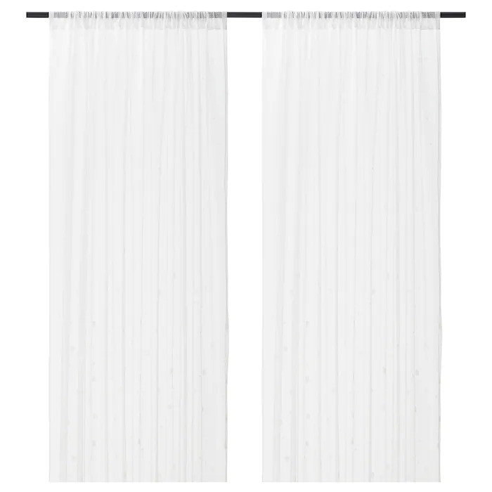 Sheer curtains white 1 pair 280x250 cm