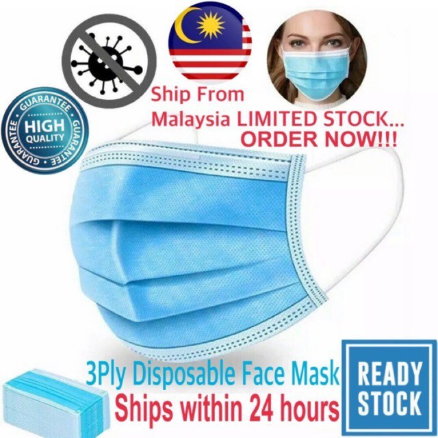 💯Ready Stock💥10Pcs/Pkt MEDIPLUS Face Mask Earloop Disposable 3 Ply Protective Mask Premium Quanlity 三层口罩 **Ship From KL*