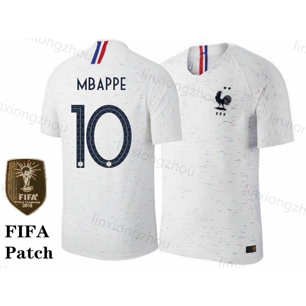 3456af9c 2 star Franch 2018 World Cup Away France Football shirts Soccer jersey |  Shopee Malaysia