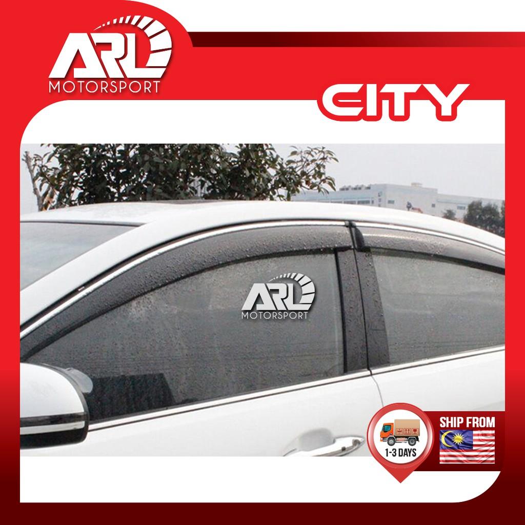 Honda City (2014-2020) GM6 Door Visor With Steel Lining  Car Auto Acccessories ARL Motorsport