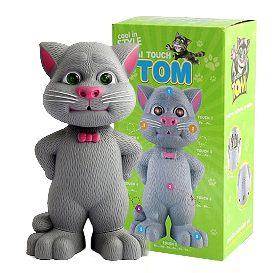Talking Tom Toy Cat Talking Tom Cat Intelligent Touch Record Story Tell Music
