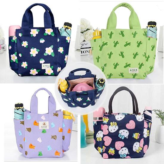 portable Thicken lunch bag canvas handbag cute cartoon HelloKitty mummy bag