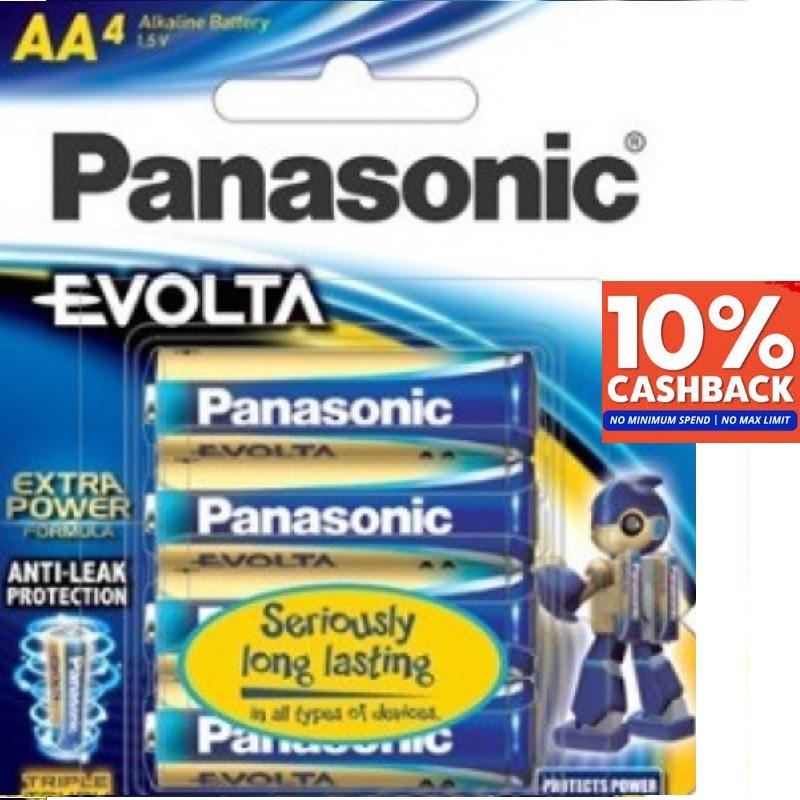 Panasonic Evolta AA 1.5V Premium Alkaline Battery 4pcs - NO Mercury Added. EXPIRES IN 2029/2030