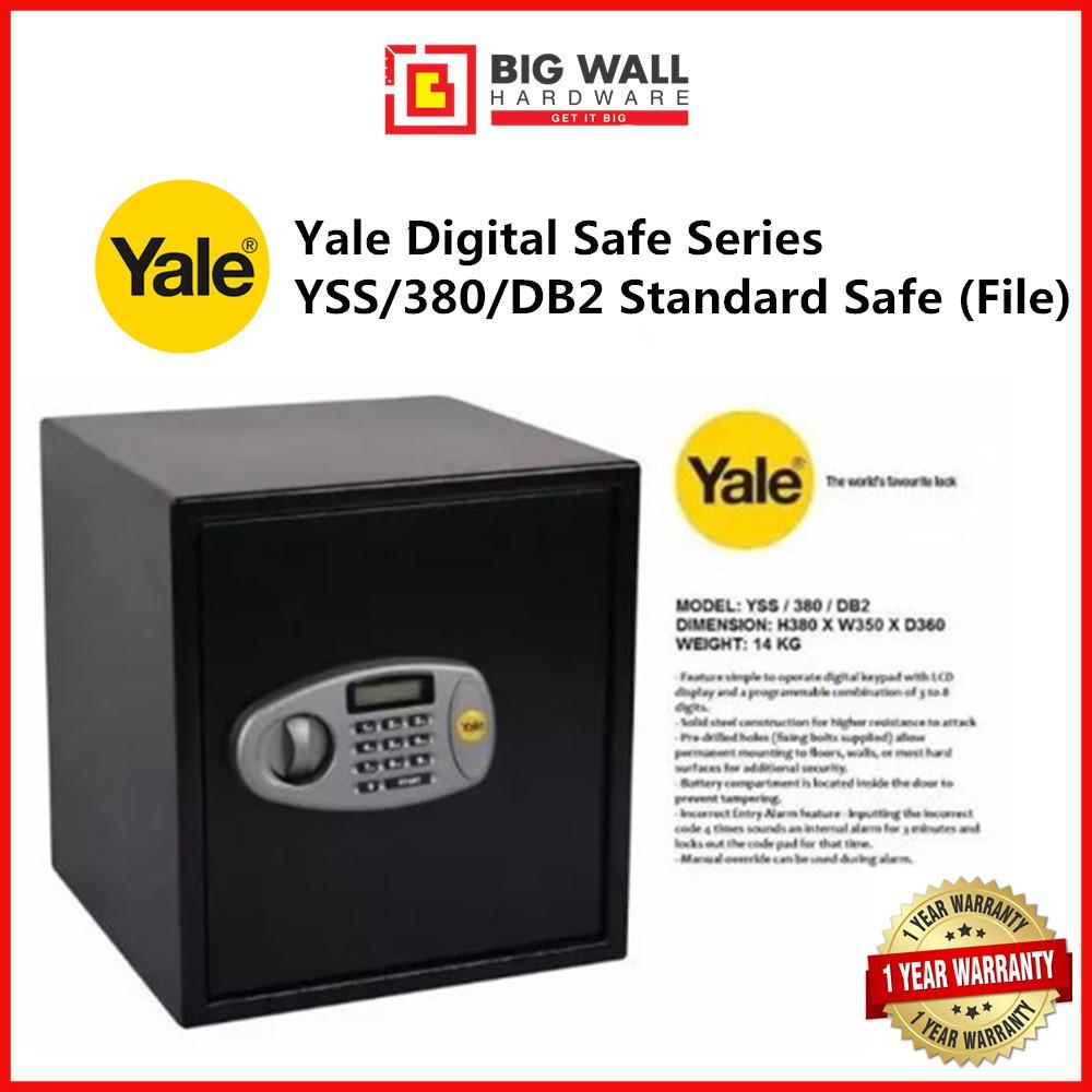 Yale Digital Safe Series YSS/380/DB2 Standard Digital Safe (File) Safety Box Peti keselamatan 保险箱