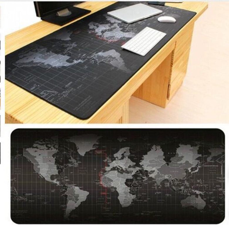 ♡ 300*700*2mm World Map Pattern Gaming Computer Mouse Keyboard Rubber Mat Pad