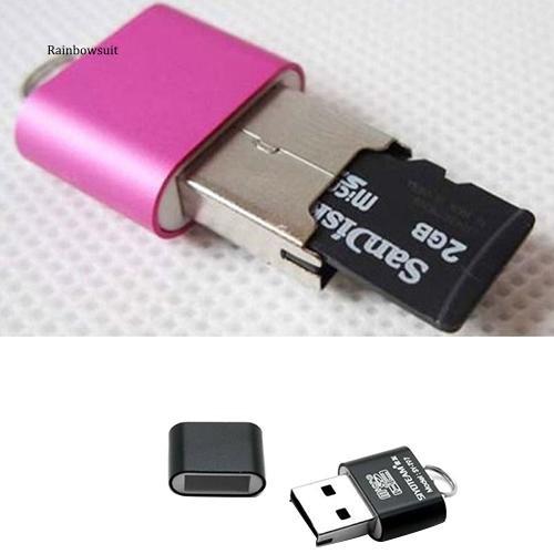 【RB】Portable Mini USB 2.0 Micro SD TF T-Flash Memory Flash Drive Adapter Card Reader