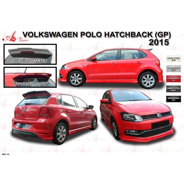 Volkswagen Polo Hatchback Hb 2016 2017 2018 2019 2020 Am Air Master Bodykit Body Kit Skirt Spoiler Shopee Malaysia