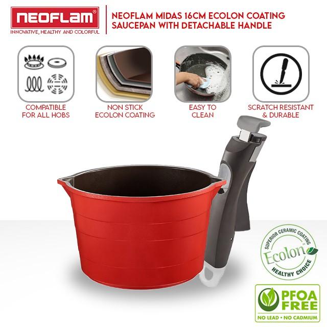 Neoflam Midas Saucepan with Detachable Handle (16cm)