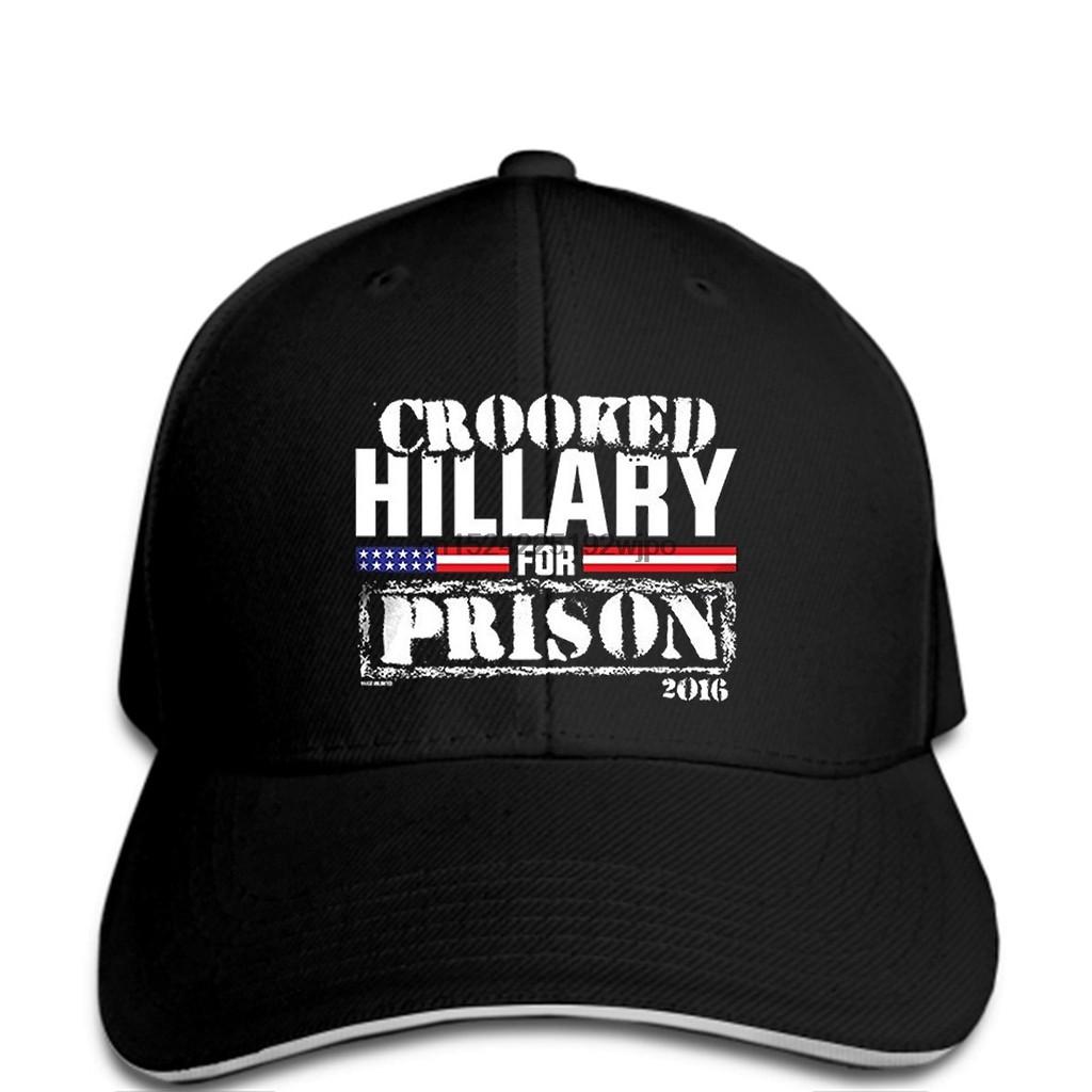 fafd64b03 Mens Crooked Hillary Prison cap man Baseball cap