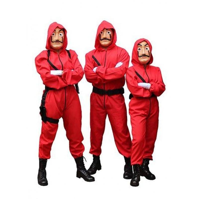 Adults Kids For La casa de papel Money Heist Cosplay Costume Fancy Party Jumpsut
