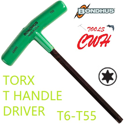 T6-T55 RANGE BONDHUS USA T HANDLE STAR TORX ALLEN KEY DRIVER