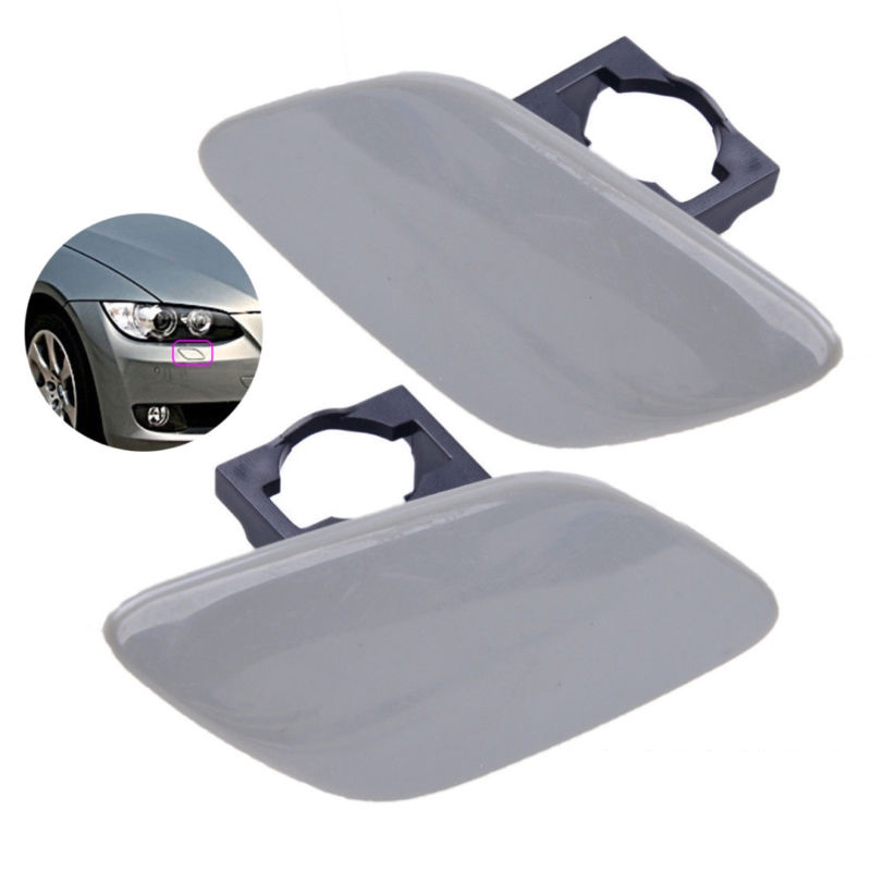 2pcs Headlight Washer Cover Cap Lamp Flap Bumper Trim For BMW 3 Series E92 E93