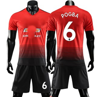 hot sales bef17 48b4a Manchester United jersey 18-19 away Pink Red Devils main short sleeves  custom