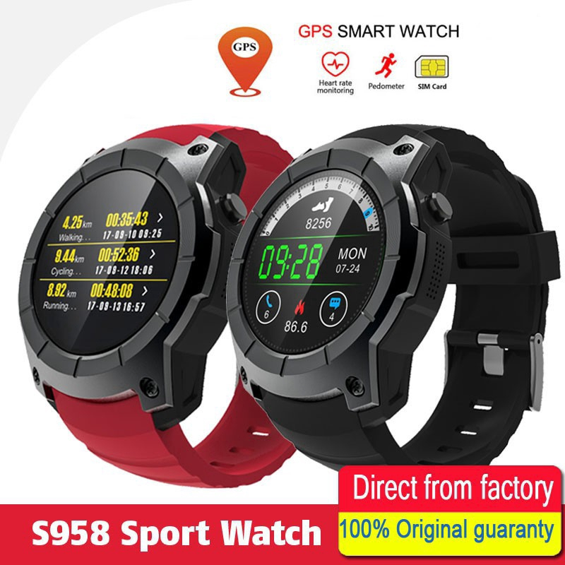 52854a9e8 Ready Stock GPS Smart Watch S958 Pedometer Fitness Tracker Heart Rate  Monitor | Shopee Malaysia