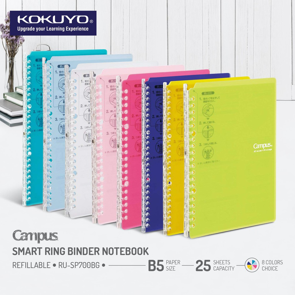 Office & School Supplies Filing Products Pratical Cover For Notebook File Folder Refillable 20 Holes Ring Binder Spiral A4 Hot Selling