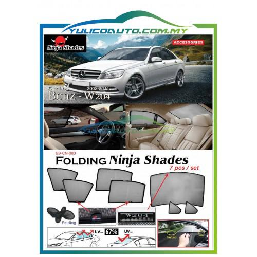 Mercedes Benz W204 C Class Year '08-'14 Magnetic Ninja Sun Shade Premium  Quality