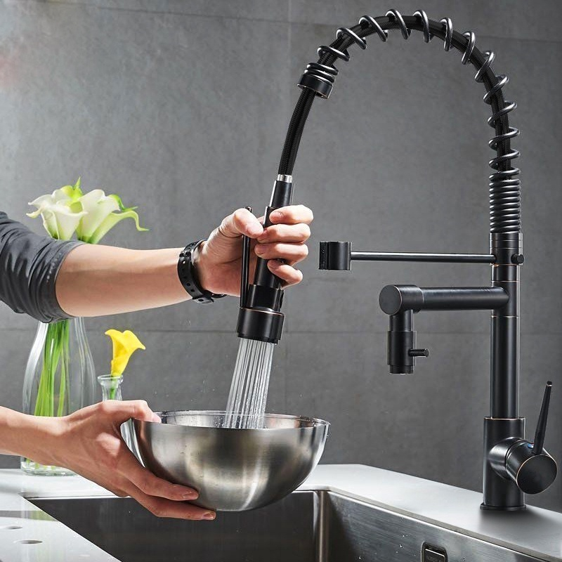 Ready Stock Kitchen Faucet Oil Rubbed Bronze Chrome Brushed Nickel Kitchen Faucets Vessel Sink Mixer Tap Swivel Spray Deck Mounted Kitchen Water Tap Shopee Malaysia