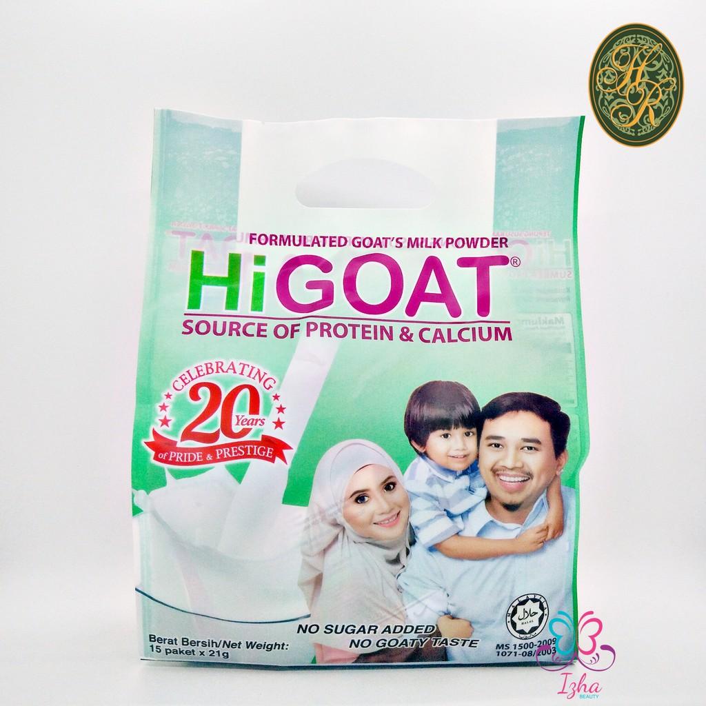 [HR] HiGoat Tepung Susu Kambing Berformula - 15pcs x 21g