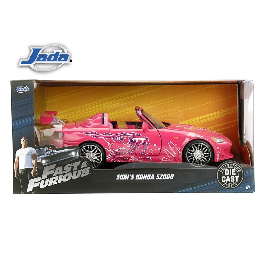 JADA 1:24 FAST & FURIOUS METAL DIE CAST SUKI\'S HONDA S2000 (PINK) MODEL COLLECTION 97604