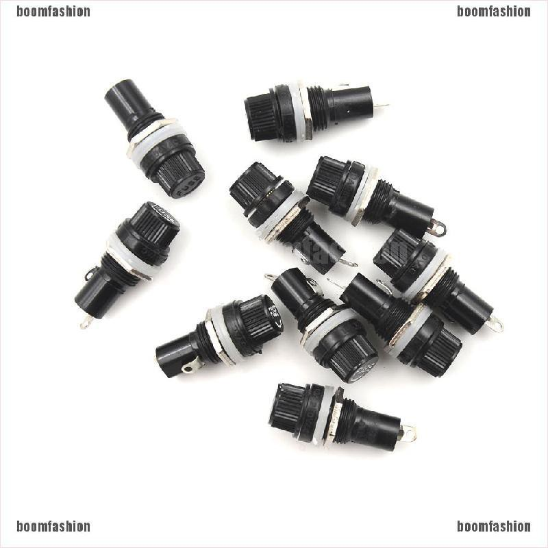 5PCS 5x20mm 10A//15A Panel Mount Screw Cap Fuse Holder Case for Glass Tube Fuses