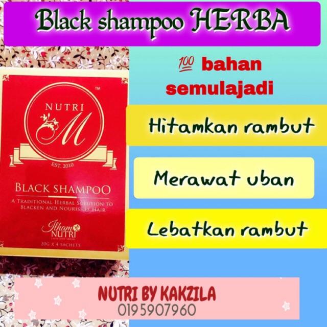 *SYAMPU VIRAL*Black Shampoo rawat hitam Uban *Freegift*HALAL TANPA KIMIA
