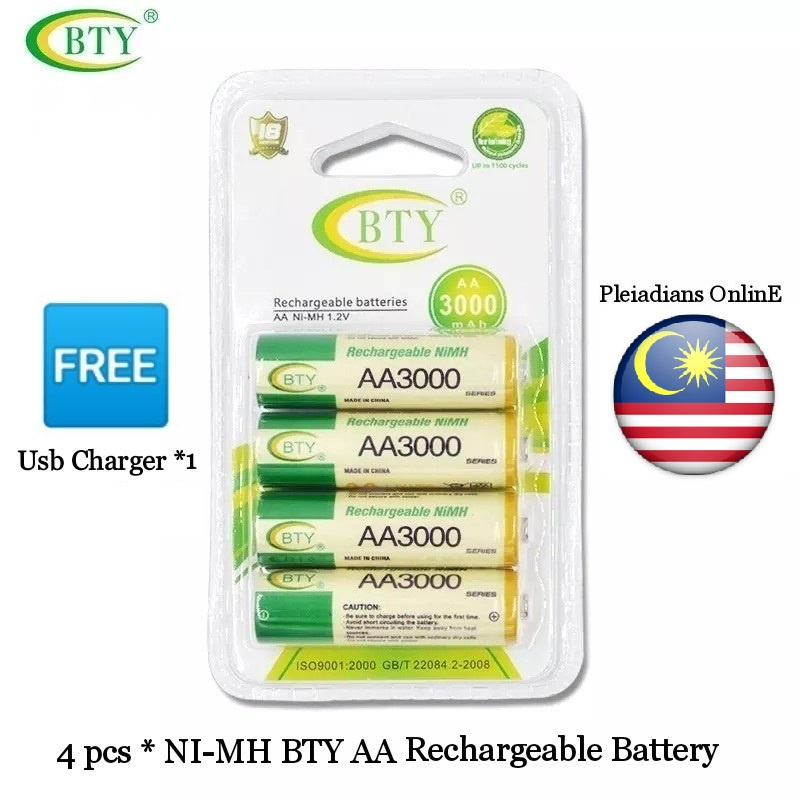 [ READY STOCK ]  Usb Battery Charger Light Weight Safety Resistance AA AAA Rechargeable Battery Jualan Murah Pengecas Toy