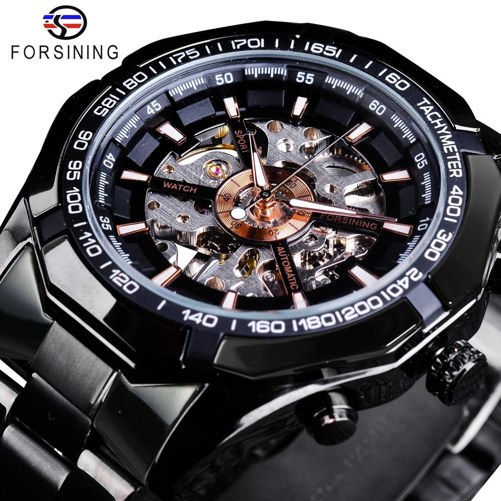 Forsining Racing Sport Clock Male Luminous Hands Men's Mechanical Watch