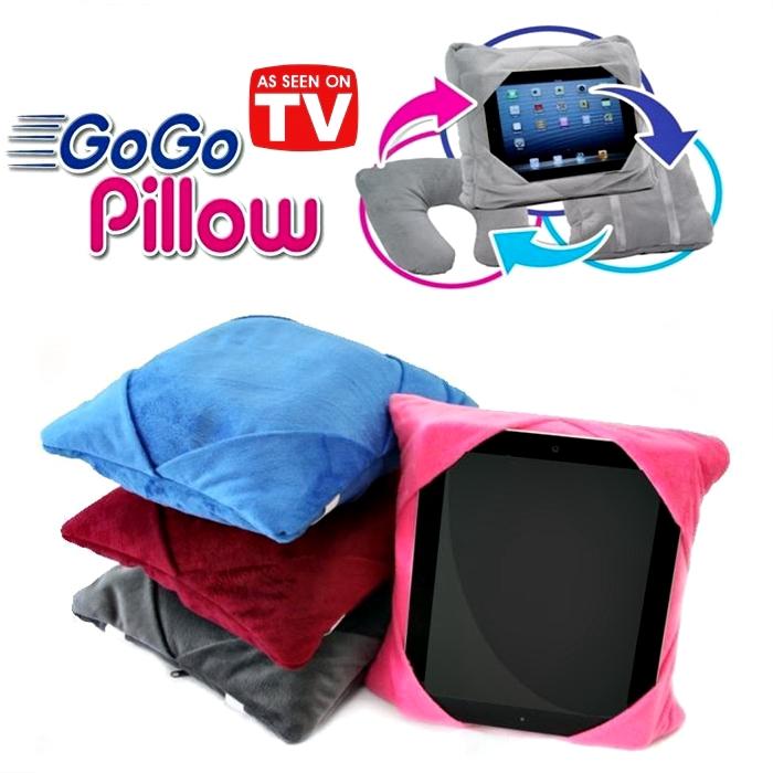 GoGo Pillow 3-in-1 Neck Pillow, Backpack, Tablet Holder